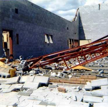 1970 Lively High School damage from Tornado - R. Orville Lyttle