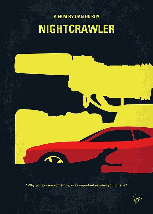 No794 My Nightcrawler Minimal Movie Poster Minimal Movie Posters