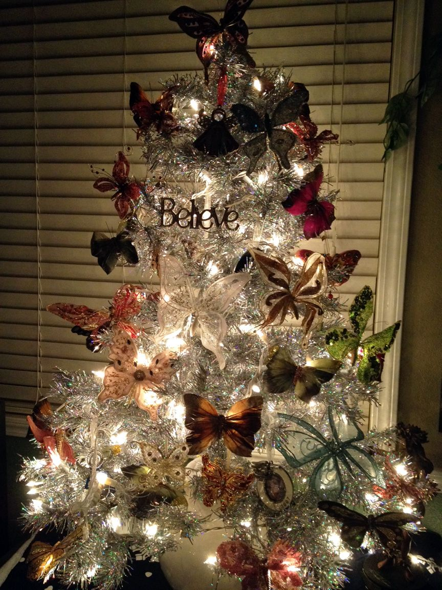 Uncategorized Most Beautiful Christmas Tree love the butterflies and one word believe christmas most beautiful trimmed tree