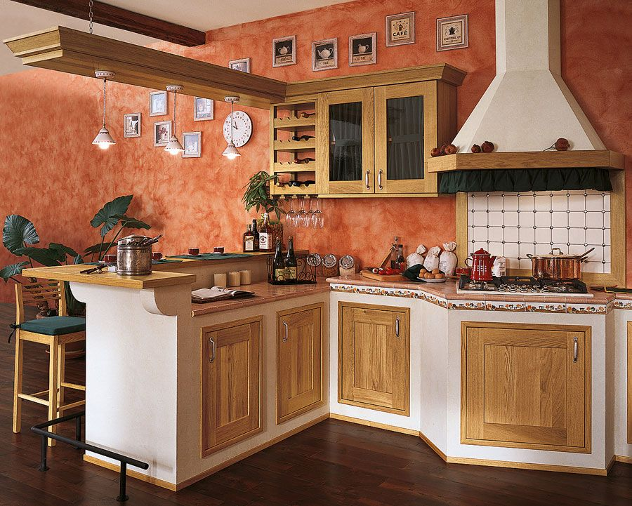 50 Foto di Cucine in Muratura Moderne Cucina in muratura