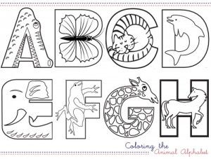 630 Coloring Pages Of Alphabet With Animals , Free HD Download