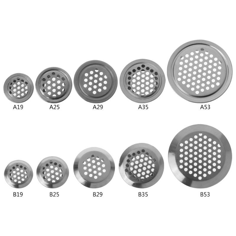 Stainless Steel Air Vent Hole Ventilation Louver Round Shaped