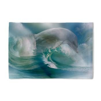 Dolphin In The Ocean Pillow Case A dolphin unites with roaring waves! In this picture you will find power and vigor!  $22.99
