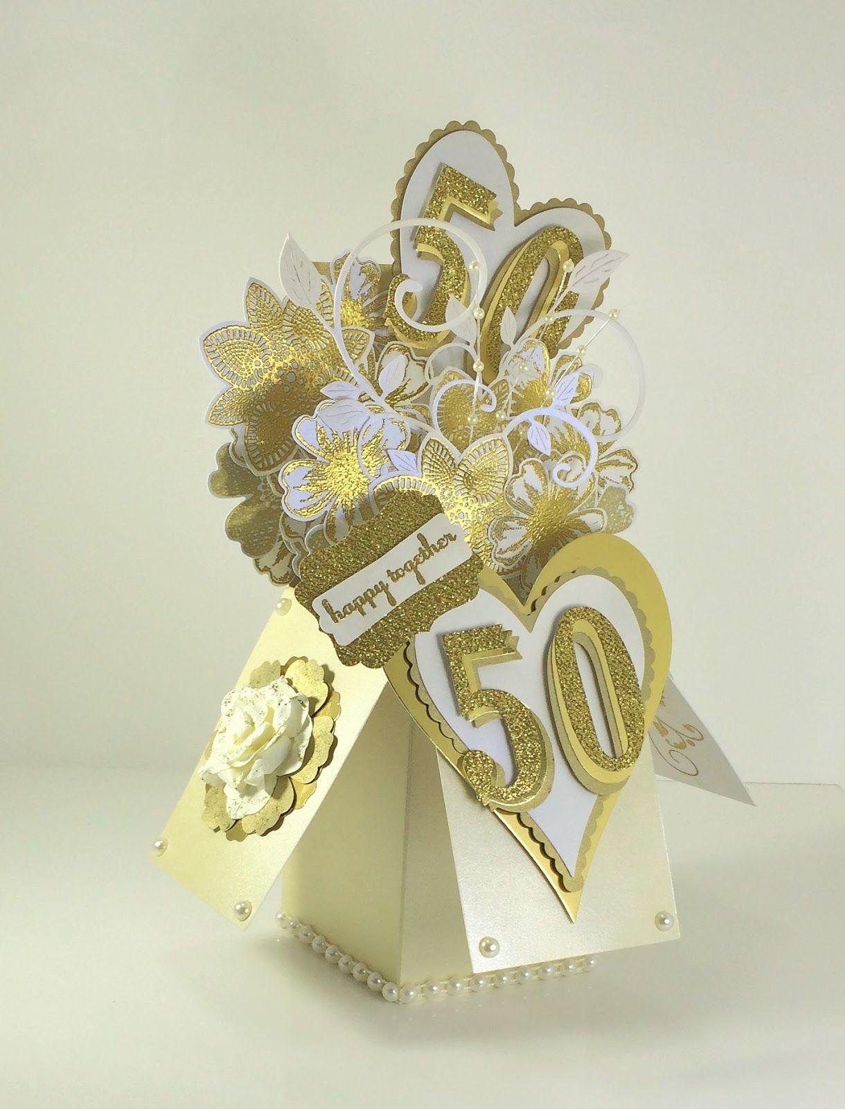 Wedding Anniversary Card In A Box Wedding Anniversary Cards 50th Anniversary Cards Wedding Cards Handmade