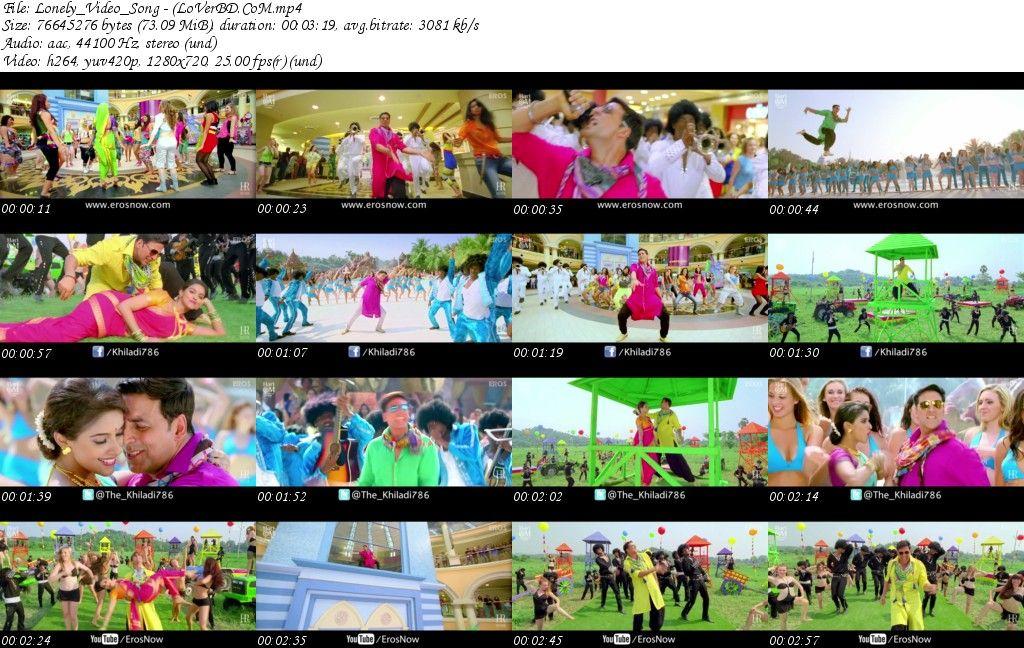 Hindi Movie Khiladi 786 Mp4 Video Songs