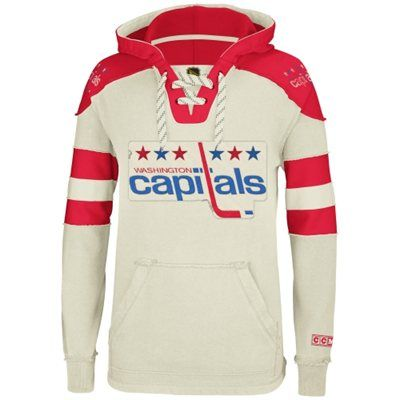 0b70ea2ed93 Reebok Washington Capitals CCM Pullover Hoodie - Natural- CHARLES SIZE M