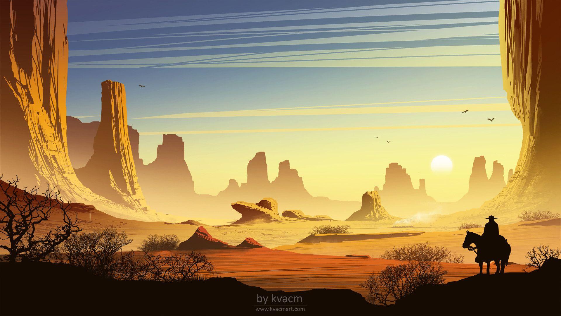 Wild West by Michal Kváč Digital art anime, Fantasy