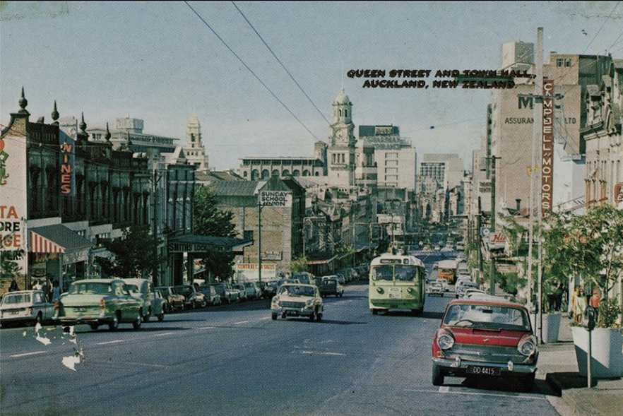 Queen Street And Town Hall Auckland 1960 S Auckland Auckland City New Zealand