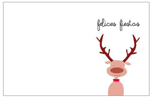 Tarjetas de Navidad para imprimir gratis | Navidad, Xmas and Craft