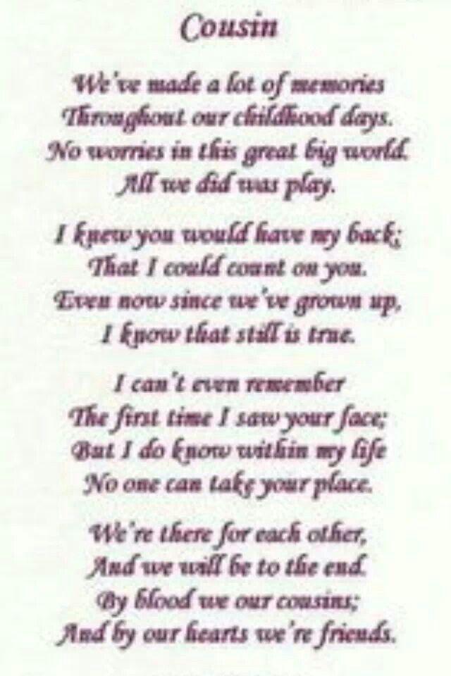 Cousins Friendship Poems Childhood Memories Quotes Memories Quotes