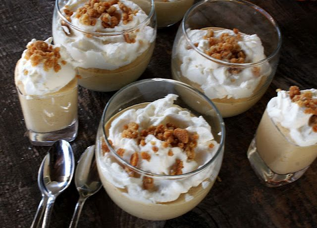 Pumpkin Parfait with Brown Sugar Crumble and Bourbon Cream