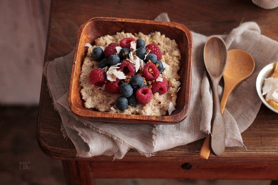 Porridge Quinoa & Coco http://www.maryseetcocotte.com/2016/04/06/porridge-au-quinoa-coco-petit-dej-ou-gouter/