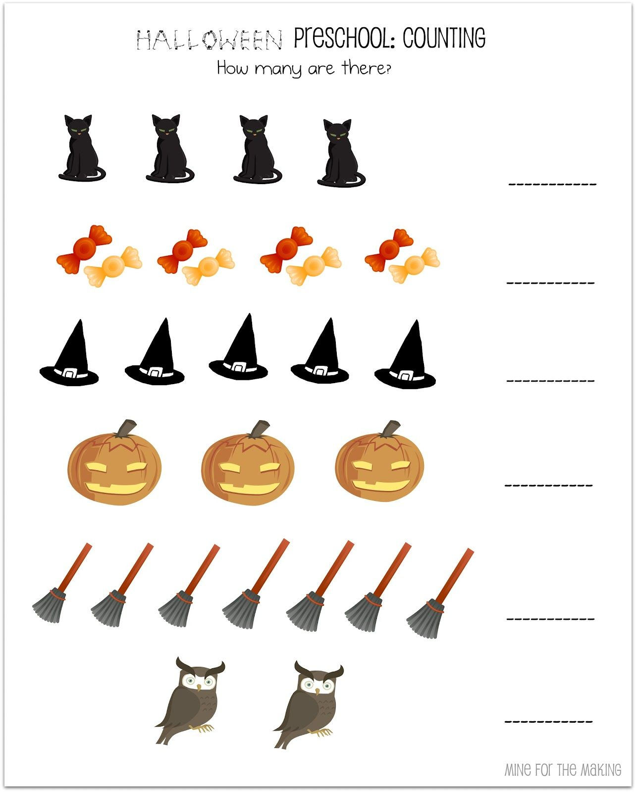 Halloween Week Halloween Preschool Printables