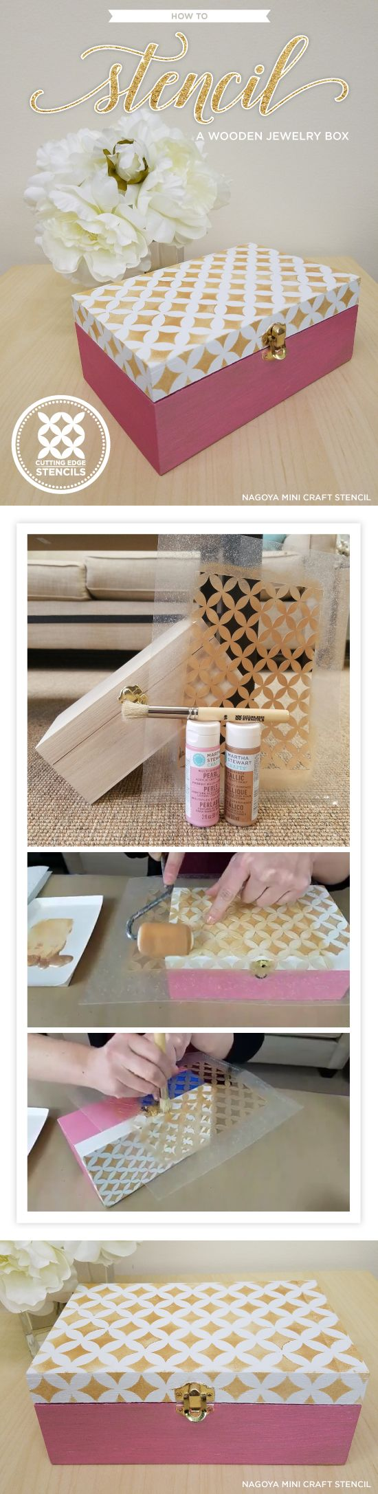 Cutting Edge Stencils shares how to stencil