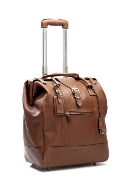 9eac2ed6ef71 Brunello Cucinelli Calf Leather Trolley Best Travel Luggage