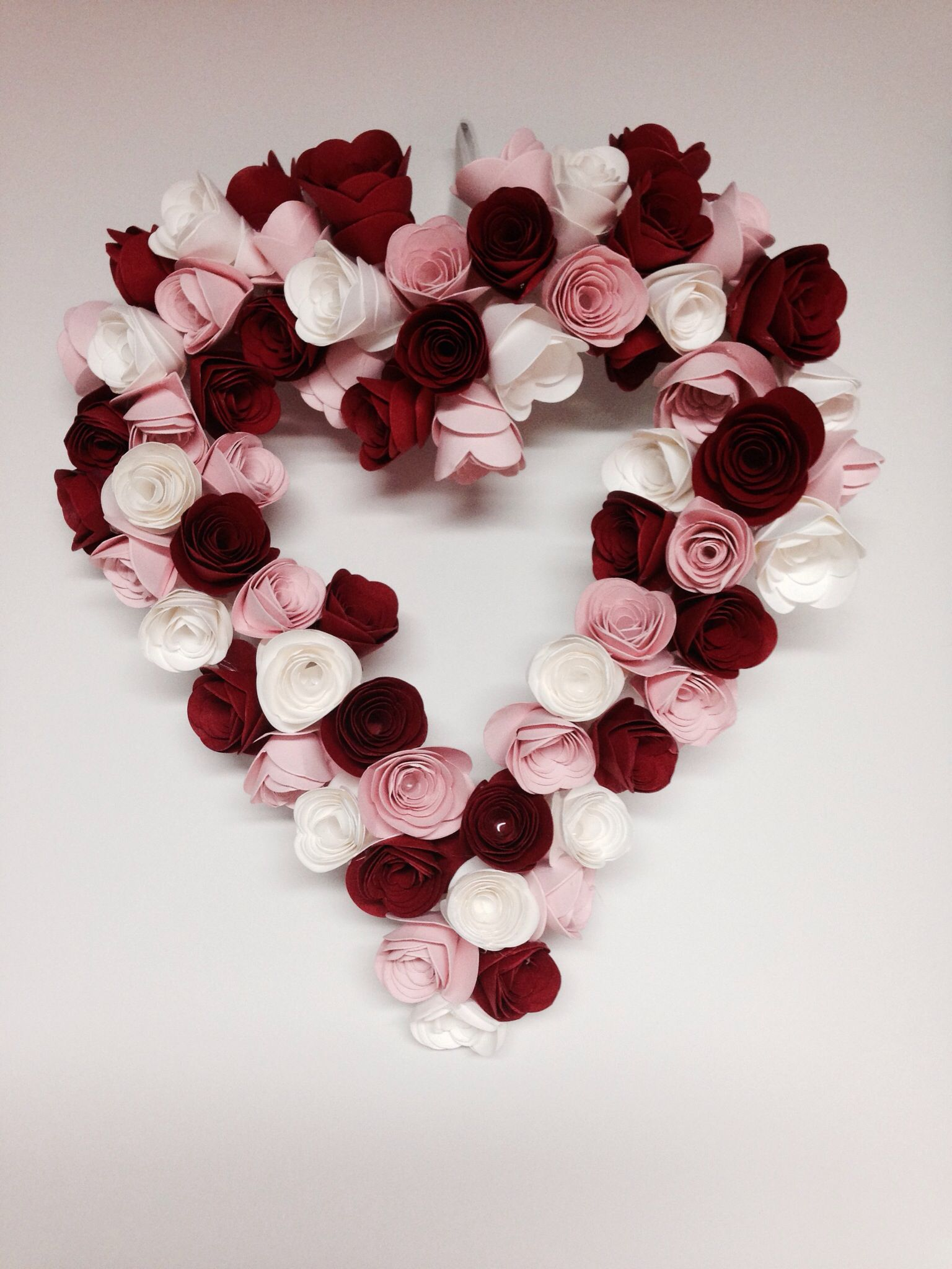 Heart wreath made with stampinups spiral flower die stampin up heart wreath made with stampinups spiral flower die mightylinksfo Choice Image