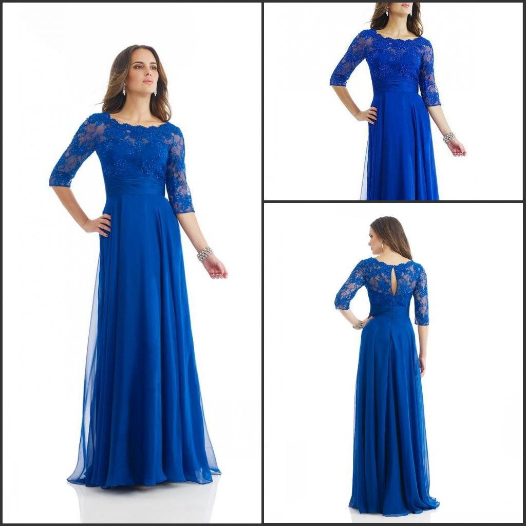 Lace dress royal blue  Plus Size  Sexy Scoop Royal Blue Mother of the Bride Lace