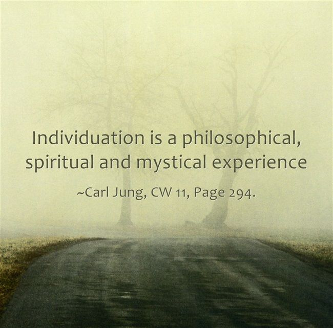 individuation is a philosophical spiritual and mystical