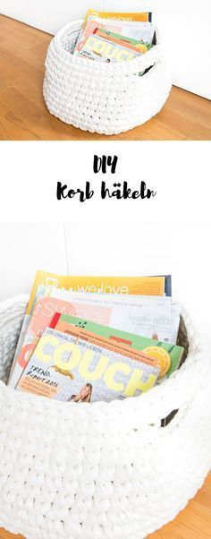 Photo of Crochet Zpagetti Yarn Magazine Basket | ars textura – DIY blog