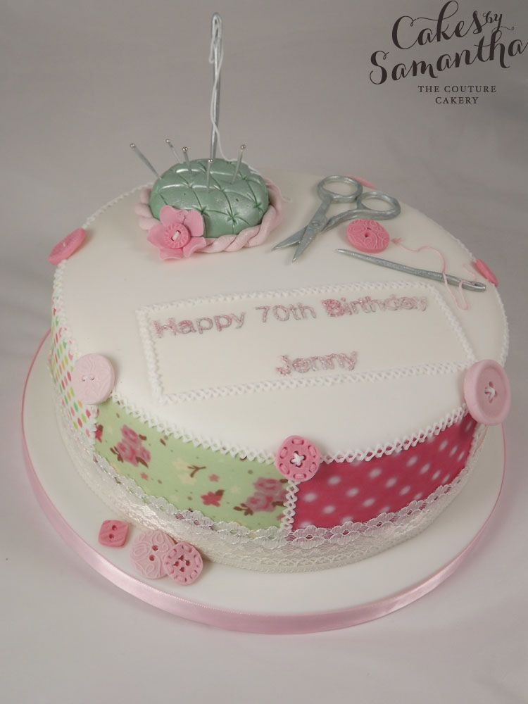Sewing Cake Jody Pinterest Cake Birthday Cakes And Cake Baking