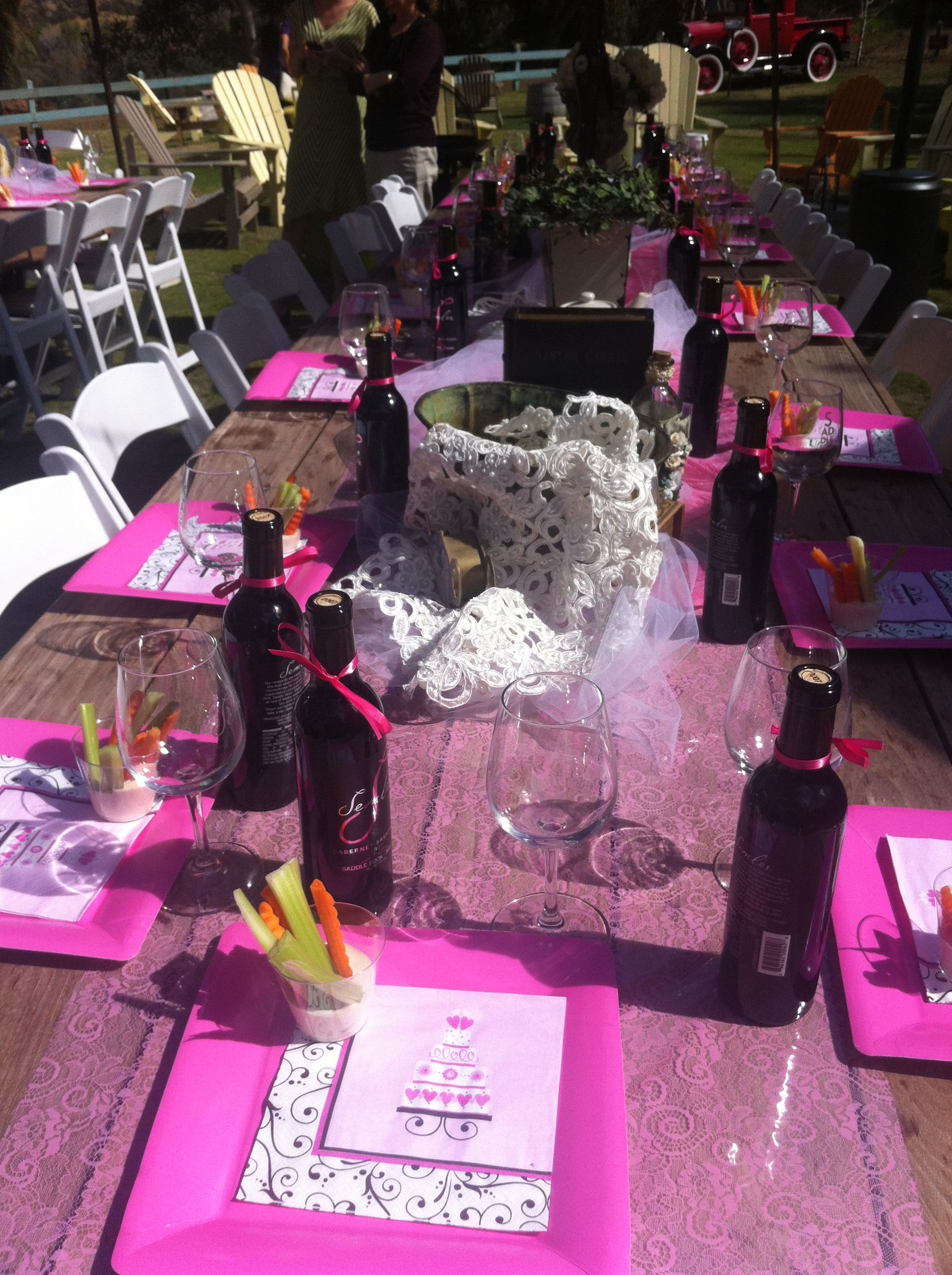 bridal shower at malibu wines tasting room call we will take you there 866 319 limo wwwaluxurylimocom