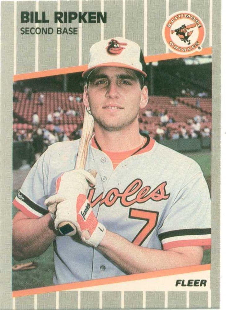 1987 topps cal ripken card and 1989 fleer bill ripken 616