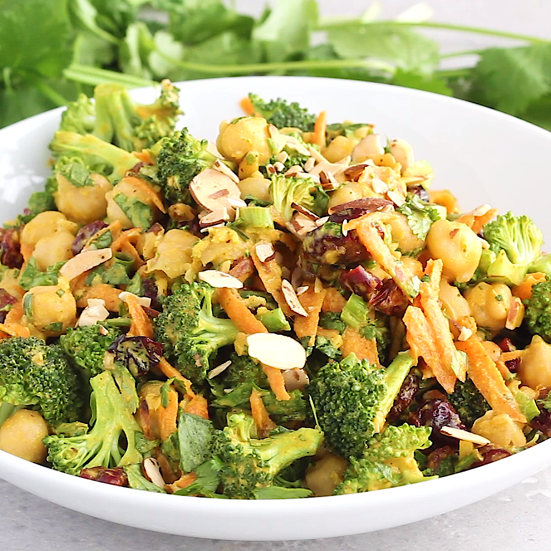 Photo of Veganer Curry Broccoli Kichererbsensalat – #Broccoli #Curry #Kichererbsensalat #…