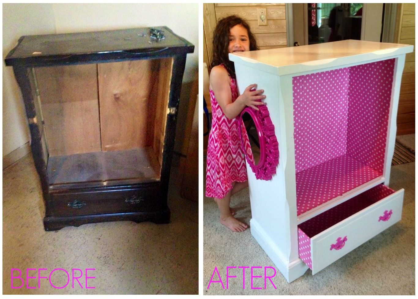 Princess Toys Box Storage Kids Girls Chest Bedroom Clothes: Kids Dress Up Clothing Storage, 5 Drawer Dresser Turned