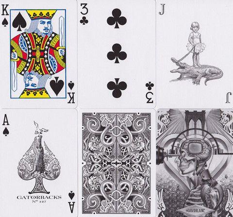 BLACK GATORBACKS Playing Cards