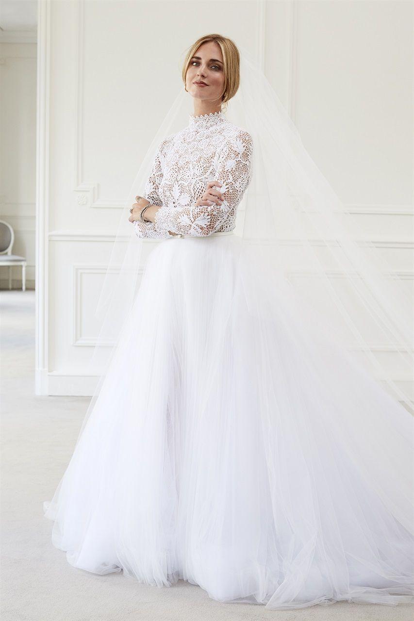 d68aeb93b2e0 Matrimonio Ferragni Fedez  l abito da sposa
