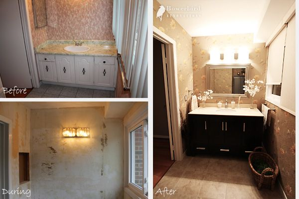Bathroom Renovations In Toronto   Before And After Photos Of Powder Room  Renovation