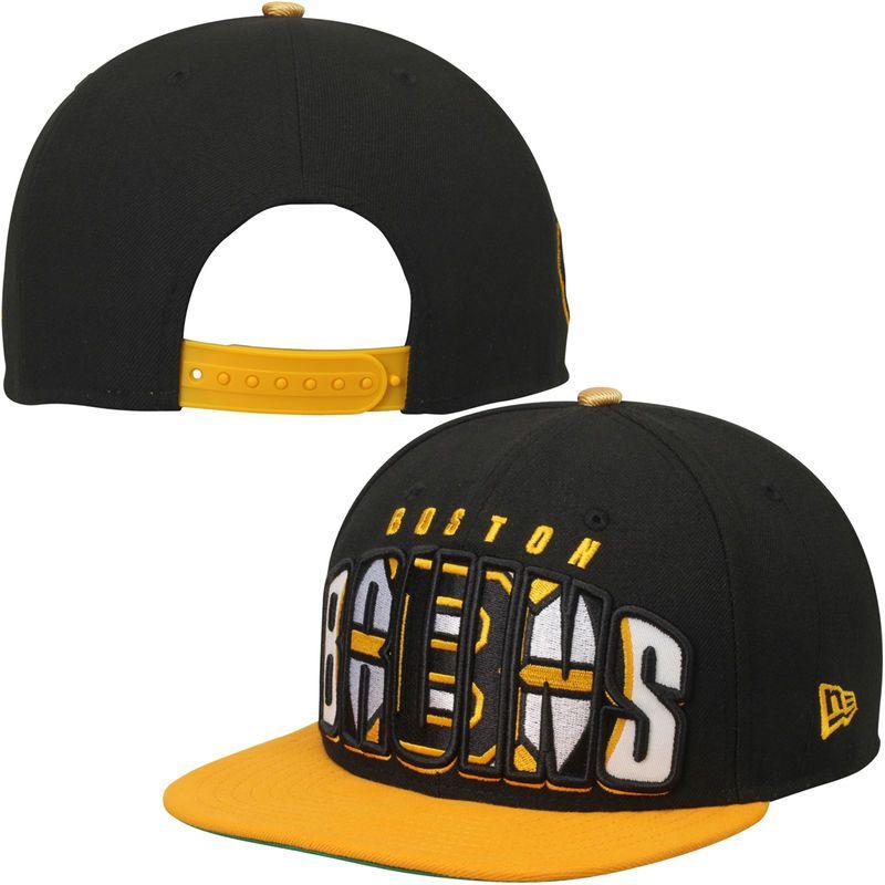 f814e1f49d4b5 Boston Bruins New Era Double Mix 9FIFTY Adjustable Hat - Black ...