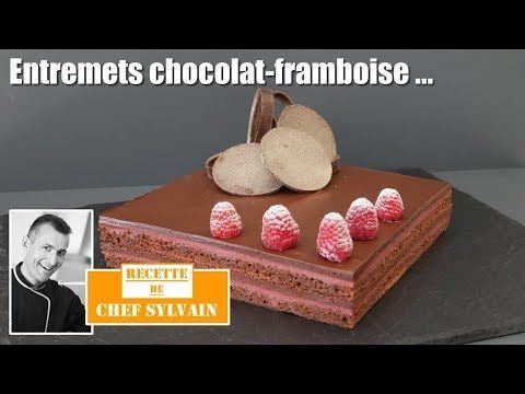 (870) Entremets chocolat framboise - Recette originale par Chef Sylvain ! - YouTube #entremetframboise