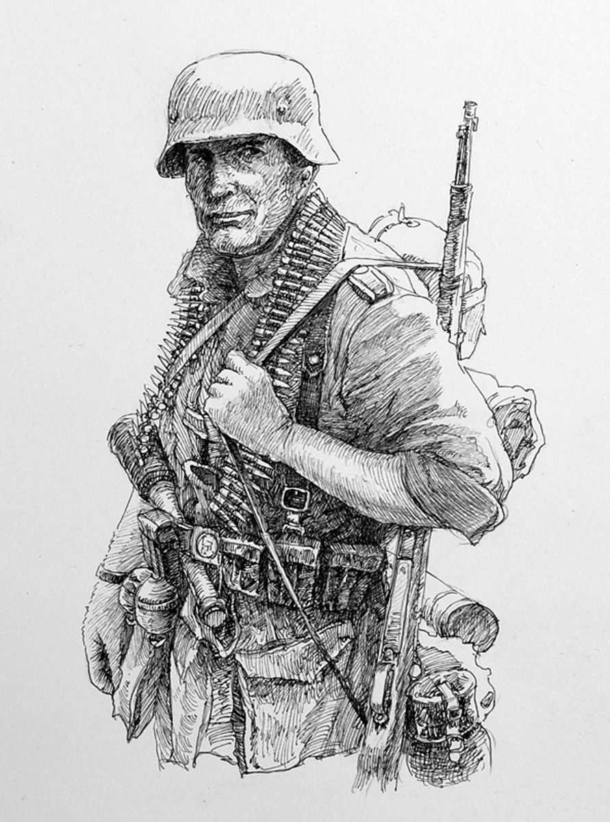 Ww2 german soldier drawing ww2 germany pinterest for Ww2 coloring pages soldiers