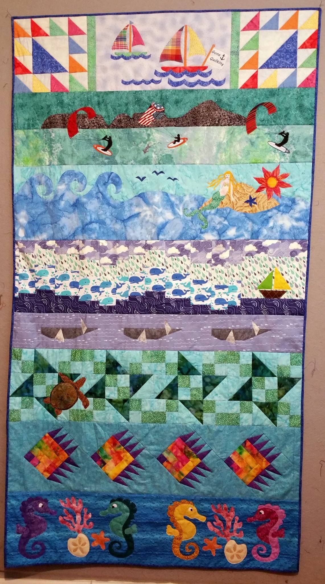 Row by Row H20 2015 Quilter/'s Pin
