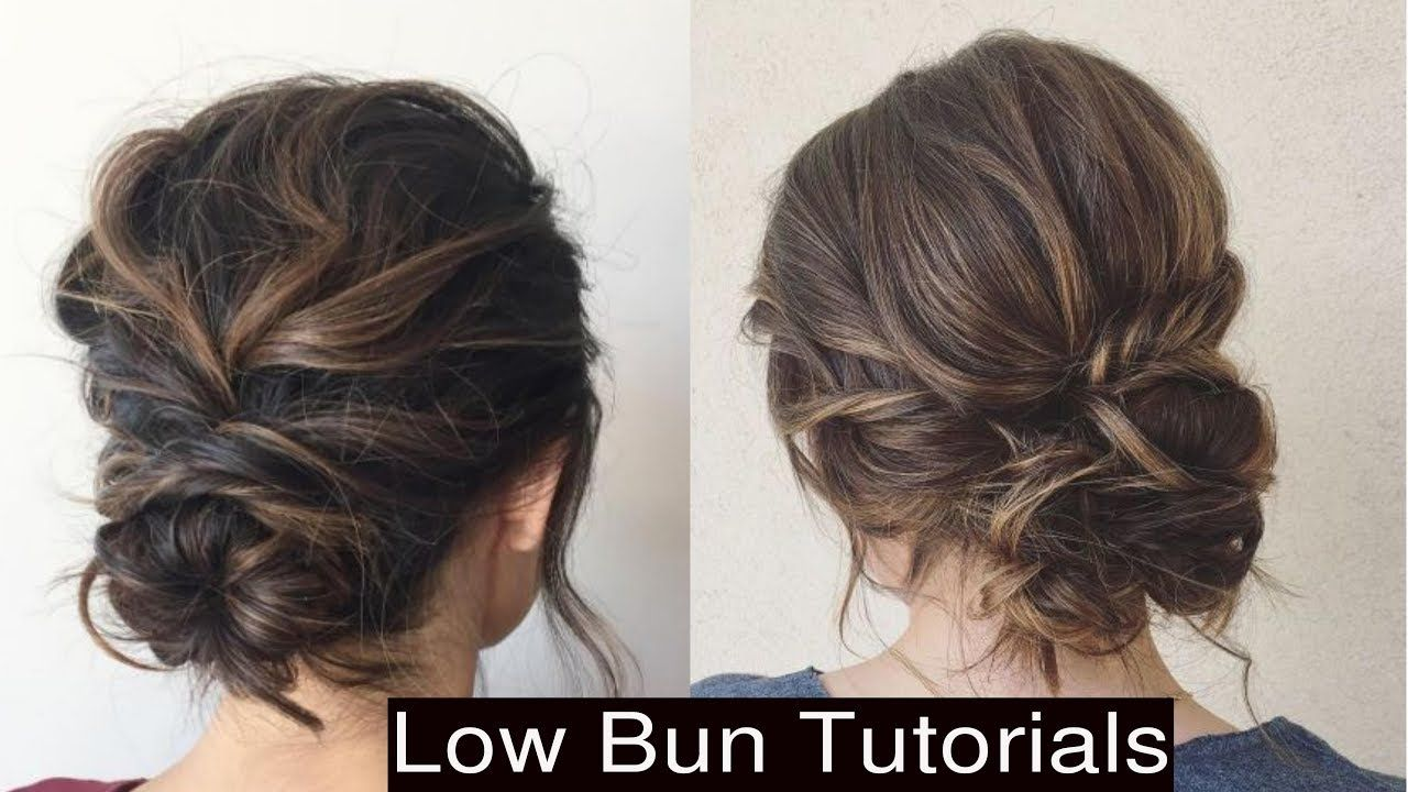 How To Style Cute Low Messy Bun Updo Hairstyles Youtube Easy Bun Hairstyles Messy Bun Updo Bun Hairstyles