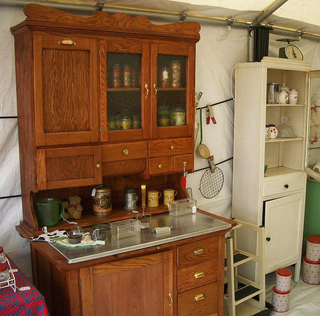 Another Hoosier Cabinet In A Booth At Brimfield Hoosier Seller