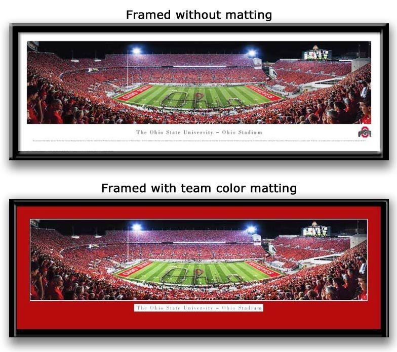 Script Ohio Football Stadium Panoramic Framed Picture Ohio Football Ohio Stadium Ohio