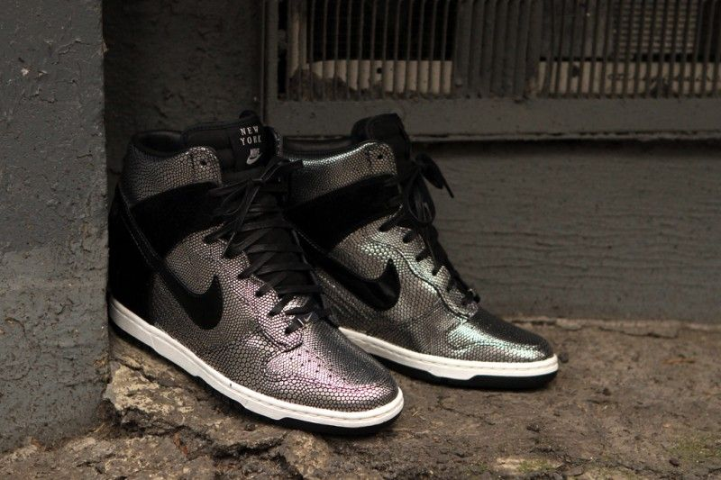 nike wmns dunk wedge - pebbled silver
