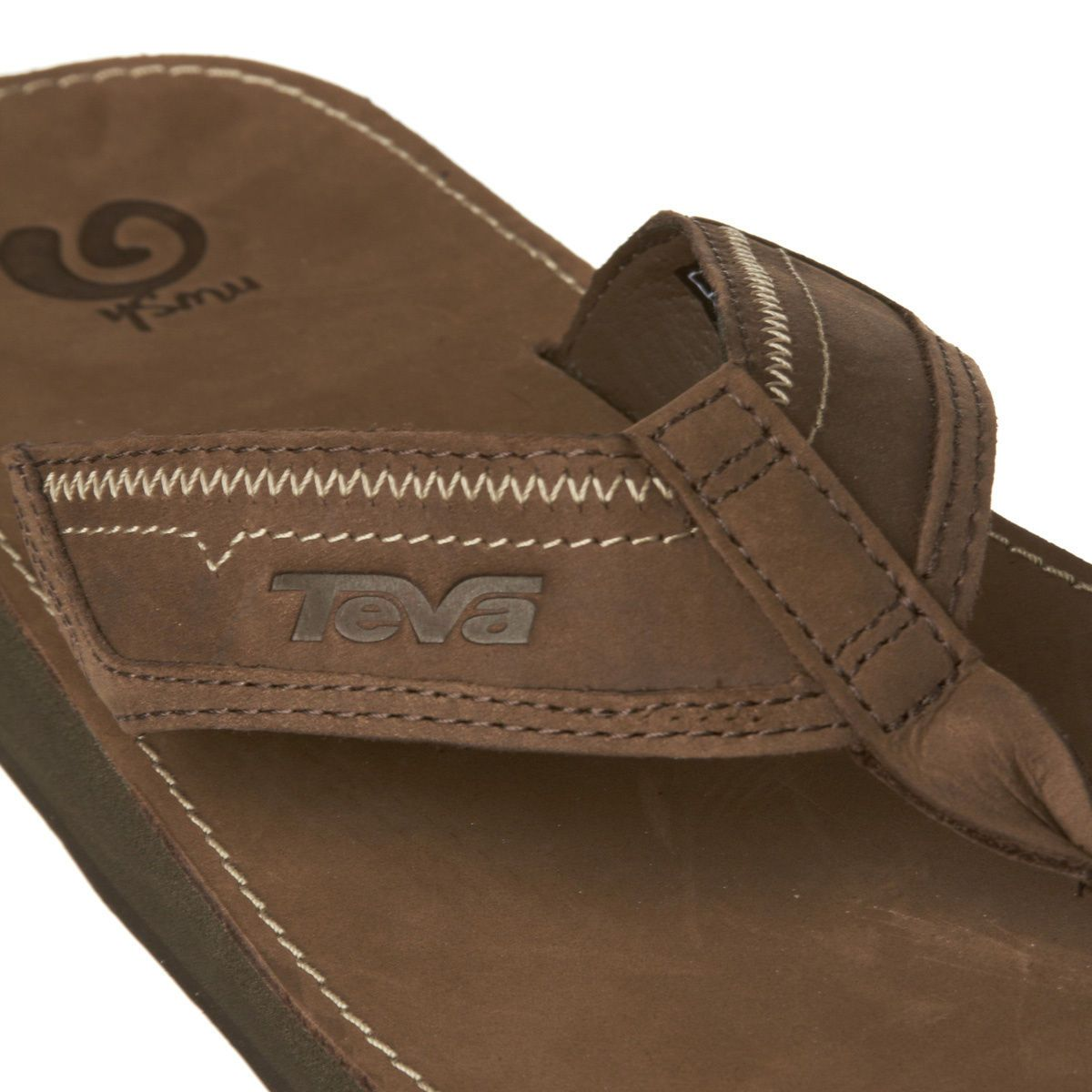 6210ab2dfe93 Teva Benson M s Leather Flip Flops - Brown