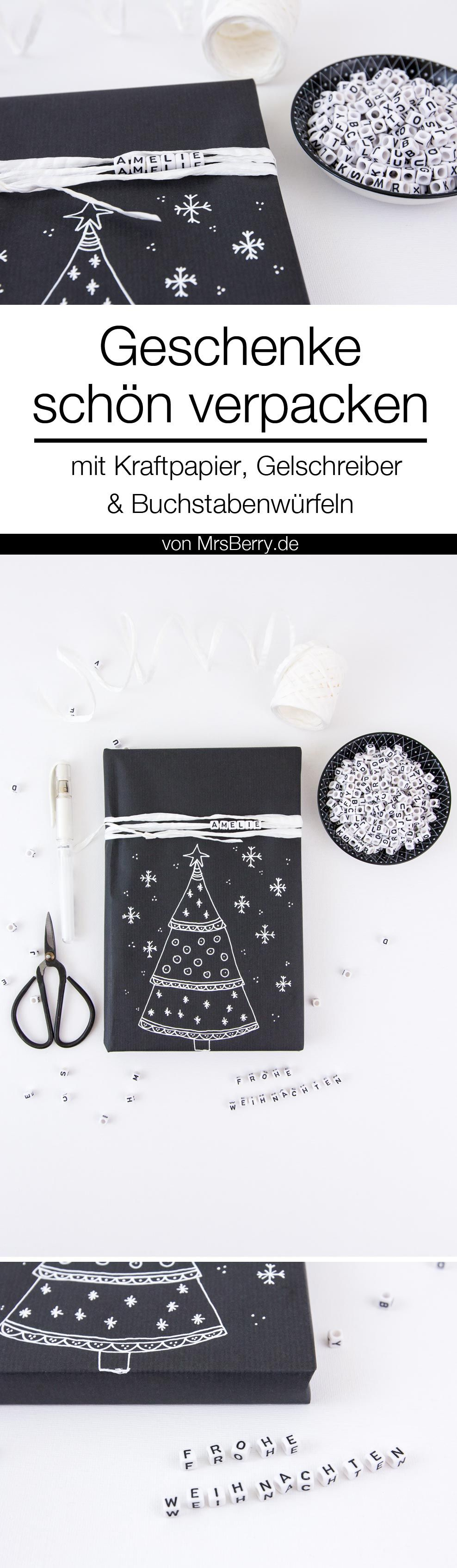 Geschenke schön verpacken mit Kraftpapier | MrsBerry Kreativ-Studio