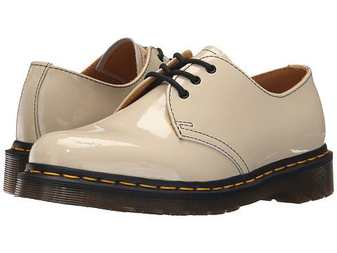 Dr Martens 1461 3 Eye Gibson White Patent Lamper 6pm Com Khaki Shoes Shoes Lace Up Shoes