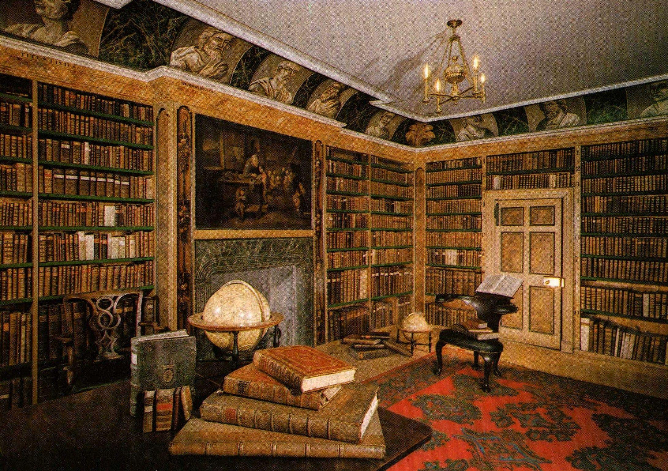 The Library - Traquair House - Peebleshire - Scotland