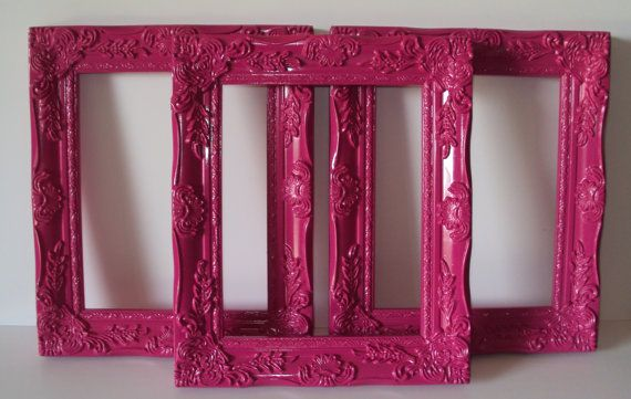 Set of 3 8x10 Paris Cottage Chic Picture Frames 3 Open Frames Wall ...