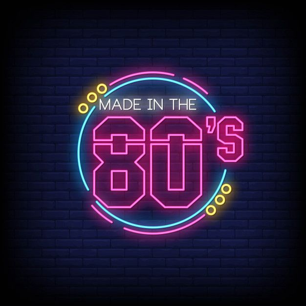 Back To 80 S Neon Signs Style Text Neon Signs Vintage Neon Signs Neon Words