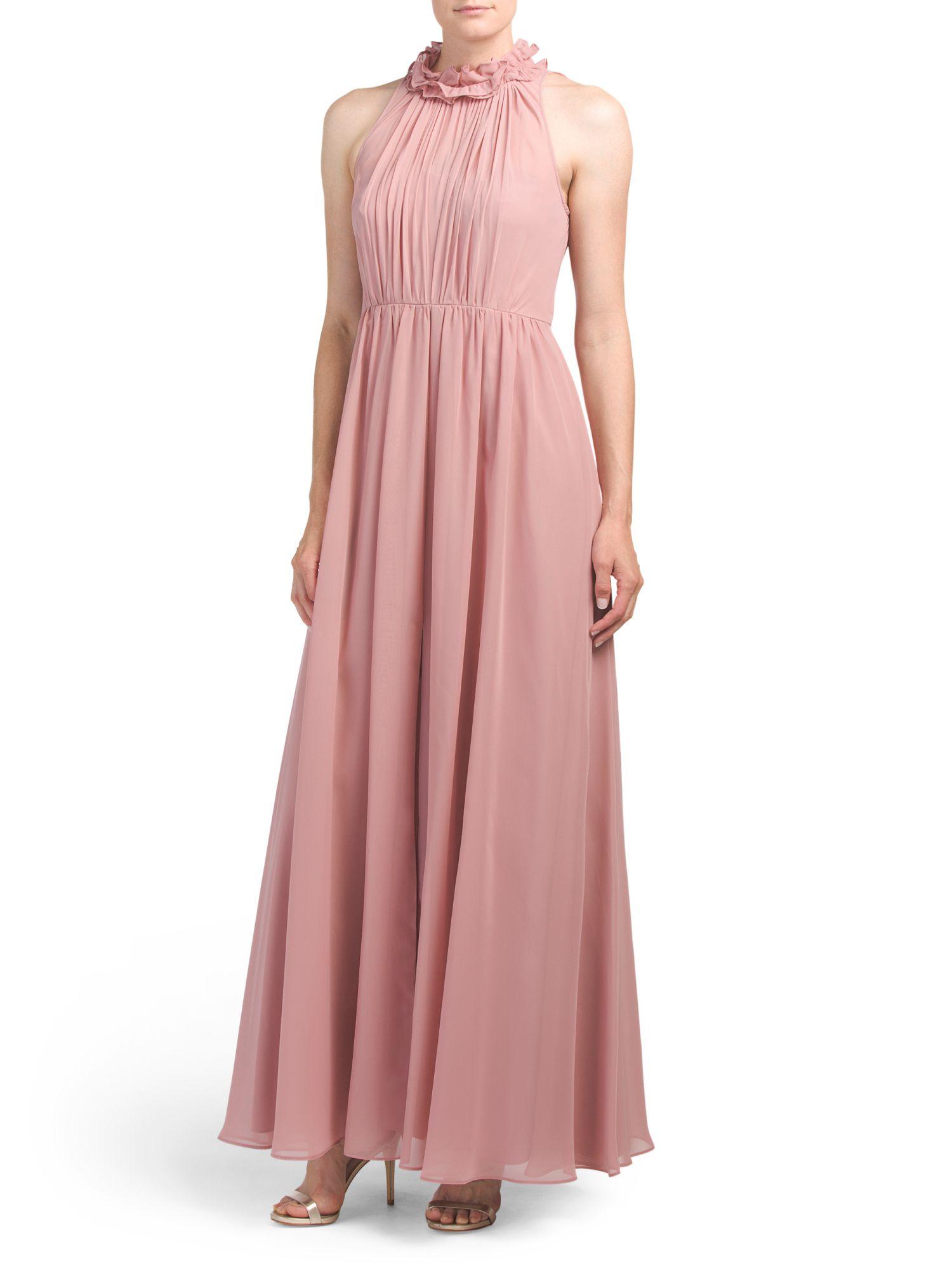 70c4741fbaf Vera Wang High Neck Ruffle Gown
