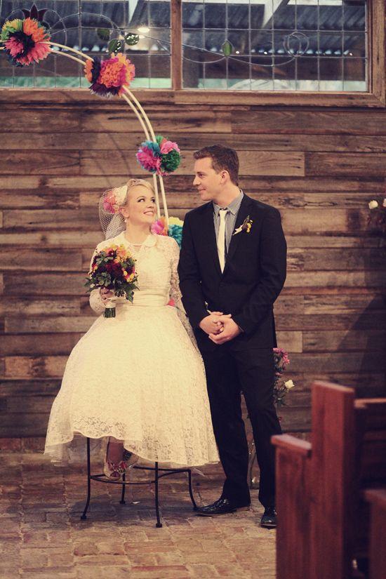 Linda and Luke's Rustic Rainbow Wedding
