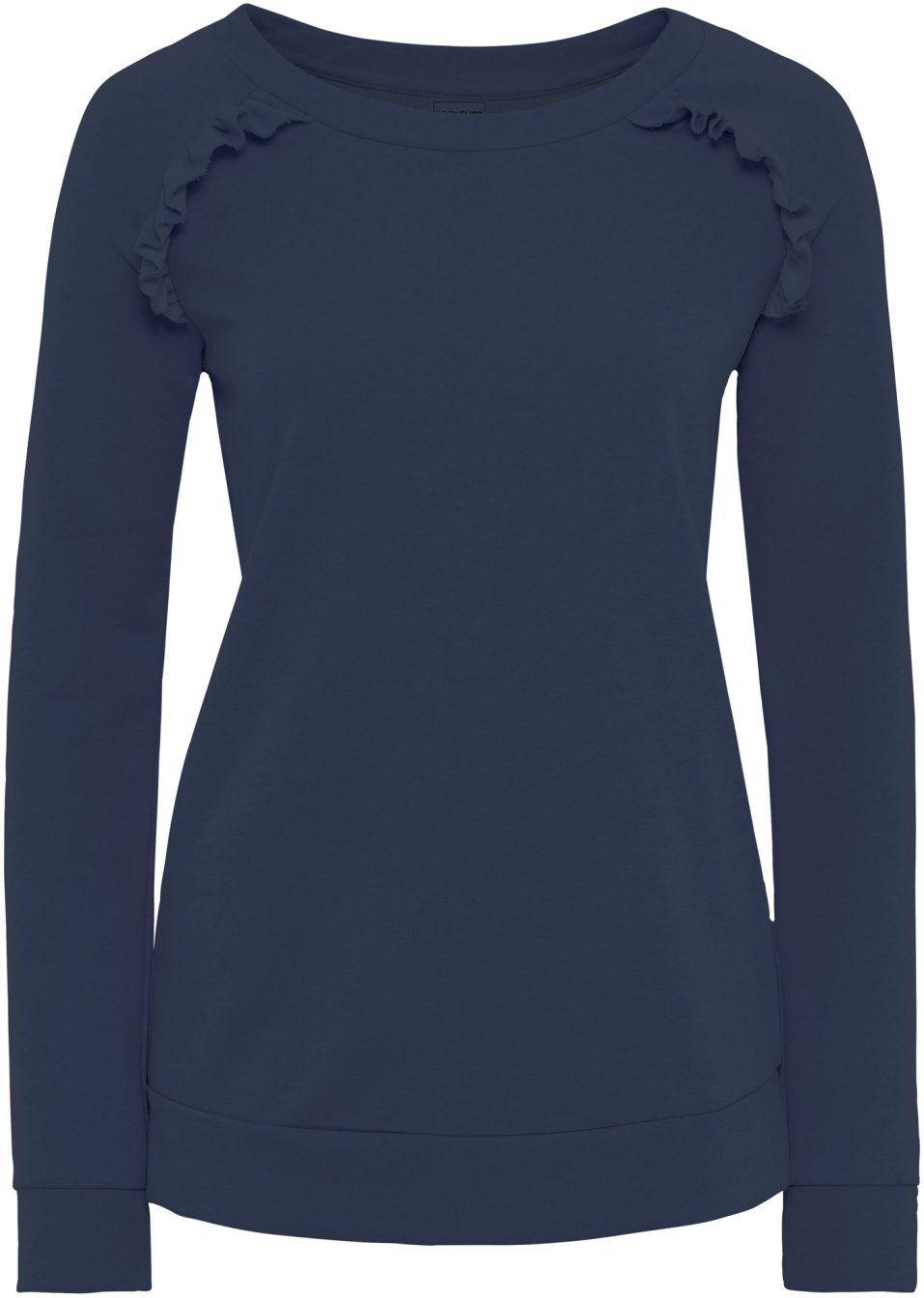 51544661532627 Bekijk nu:Mooi sweatshirt van het merk BODYFLIRT met modieuze ruches bij de  schouders.