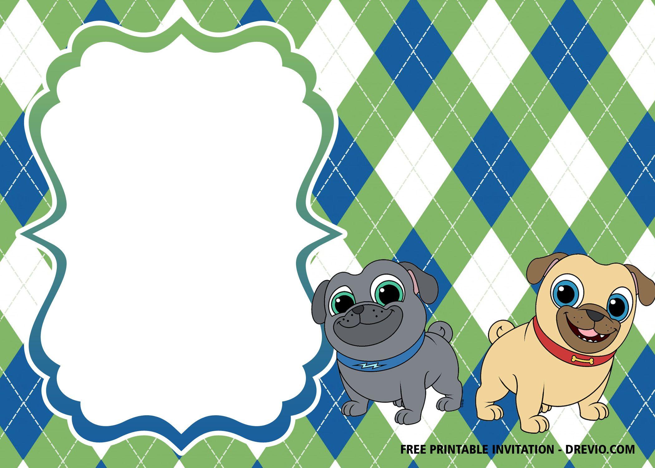 Free Disney Puppy Dog Pals Invitation Templates Free Printable Baby Shower Invitations Printable Baby Shower Invitations Printable Birthday Invitations