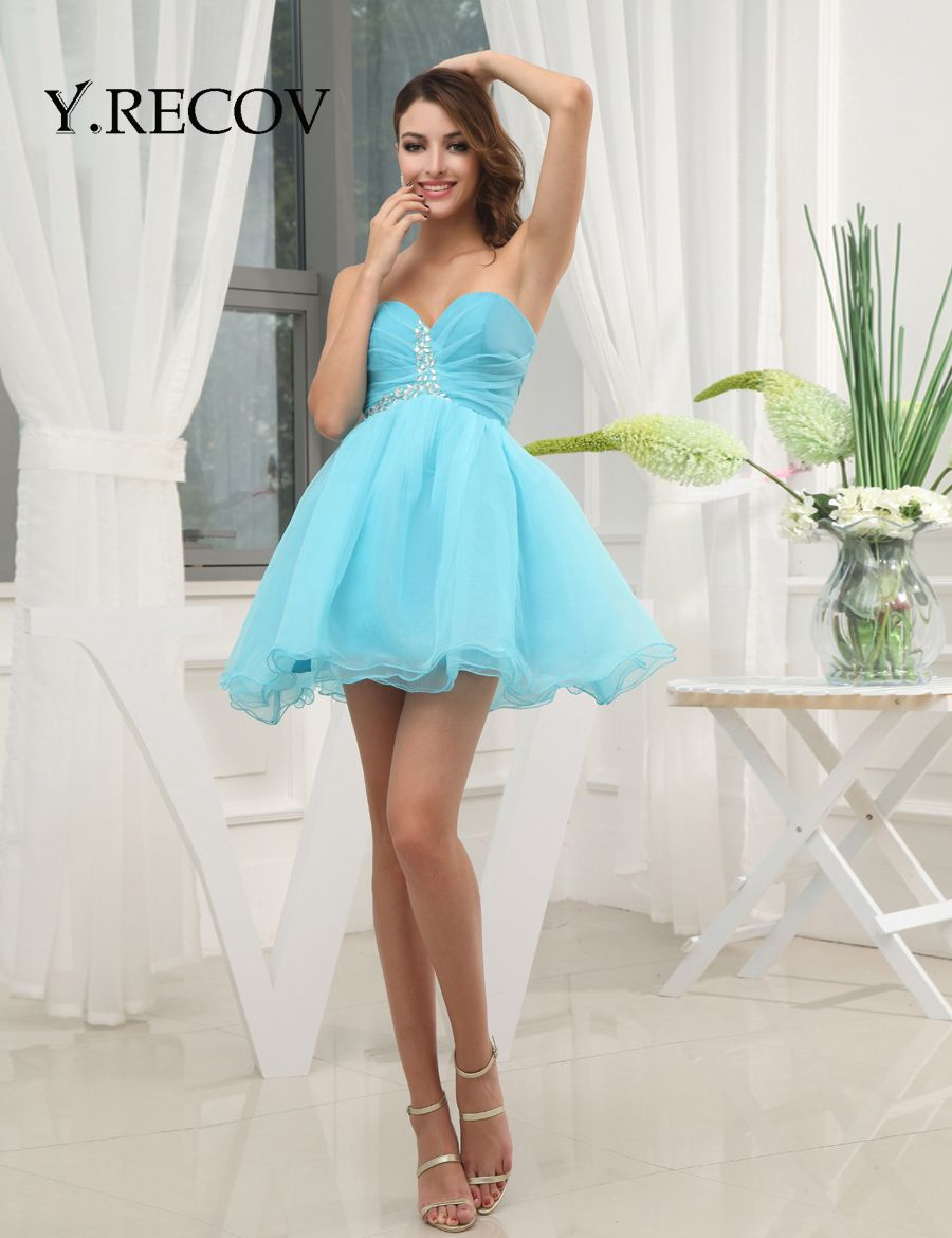 Blue Homecoming Dresses Cheap YD2132 Beading Discounted Homecoming ...
